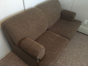 Brown Pull-Out Couch