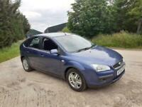 2006 Ford Focus Mk2 Ghia 1.6 Petrol Manual 5 Door Hatchback Blue Cheap MOT