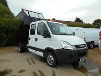 2010 IVECO DAILY 2.3TD TWINCAB 7SEATER TIPPER 1 OWNER FSH MUST SEE