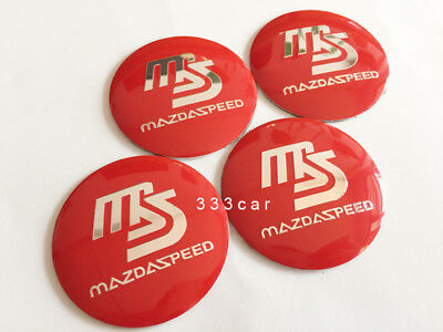 - 56.5mm Red MS Wheel Center Cap Badge Hub Cover Emblem Sticker