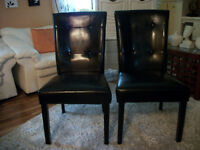 TWO BLACK LEATHER CHAIRS - delivery possible!