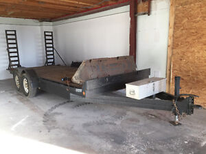 For Sale or Trade 2008 18' Trailtech Skid Steer/Utility trailer