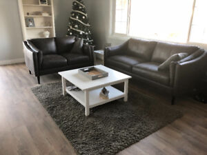 New Leather sofa and love seat