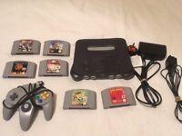 Nintendo N64 & 6 games