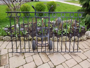 Iron/Metal Galvanized Railings, Arch Door, Fence, Bed, Chairs