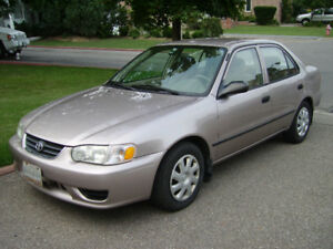 2001 Toyota Corolla + extra set of tires