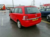 2014 64 VAUXHALL ZAFIRA 1.8 16V EXCLUSIV 7 SEATER IN RED.1 PRIVATE OWNER.FULL SH