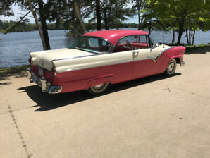 1955 Ford Victoria 2 Dr Hdt  tropical rose & white