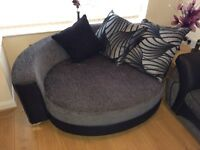 DFS Cuddle couch, 4 seater sofa and footstool for sale