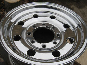 Polished Ford Aluminum truck rims, 16X7, nice, sell or trade