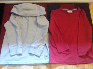 Zara and Next long sleeve cotton tops