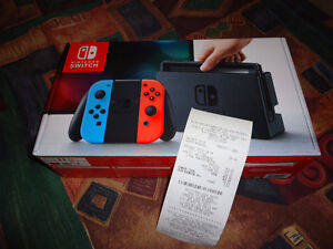 NINTENDO SWITCH GRAY/NEON COLOR BRANDNEW WITH RECEIPT