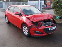 2014 Vauxhall Astra 1.6 Design DAMAGED REPAIRABLE SALVAGE