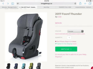 """Brand new Clek Foonf 2017- unopened in box- in """"Thunder"""""""