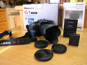 Panasonic Lumix G-1 BLEU, 14-45mm. & +++