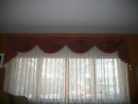 Rose color valance for sale