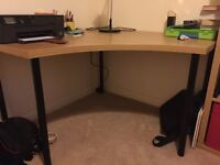 LINNMON / ADILS (Ikea) Corner table, oak effect with black legs, with or without UPPBO Work lamp
