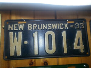 Old New Brunswick License Plates from the 1930's