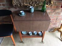 MIDCENTURY TEA TROLLEY SIDE TABLE FREE DELIVERY