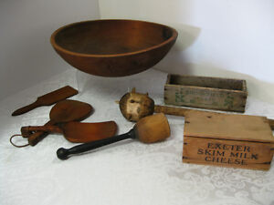 Vintage Wood Bowls -- FROM PAST TIMES Antiques - 1178 Albert St