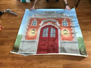Fire Station wall canvas decoration for kids room