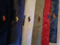 Ralph Lauren men's t shirt crew neck small pony short sleeves 7 colours £15 each cotton