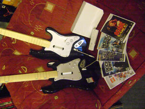Wii Rock Band Bundle, 5 games, all cords with console