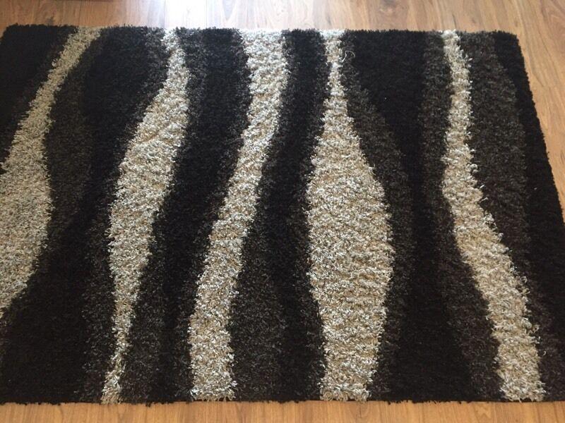 Large Rug Carpet Smoke Grey Color Fluffy Argos