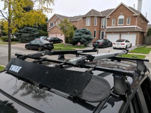 Thule roof rack plus two bike carriers