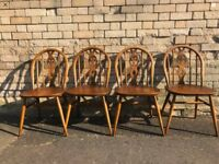 Set 4 x Vintage ERCOL Vintage 1970s Dining Chairs