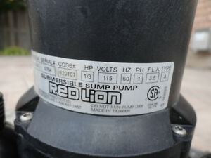 Red Lion 1/3 HP Submersible Sump Pump - Works Perfectly Kitchener / Waterloo Kitchener Area image 4