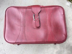Red Skyline Suitcase
