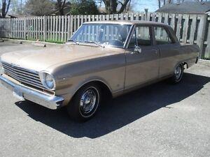 Low Km Beautiful Classic 1963 Chevy II 4 door sedan