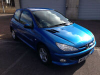 2006 Peugeot 206 1.1 8v Sport 3 Door Miami Blue Metallic