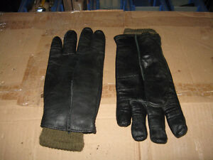 black leather glove with liner
