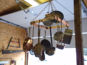 Ceiling Copper Pot Hanger With Adjustable Chain