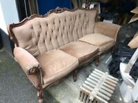 Vintage sofa couch Louis XV by A.M.C Italy