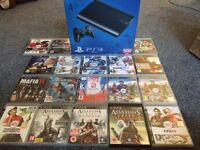 PS3 500gb with 18 games