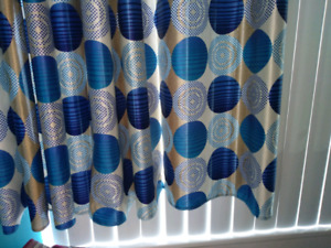 Bright and colorful curtains
