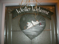 HAND MADE WOODEN ART FOR INDOORS OR OUTDOORS   2