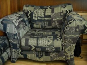 Large Sofa Chair with Foot Stool for sale. Windsor Region Ontario image 1