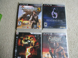 PS3 games  set of four games