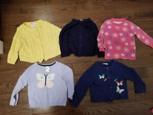 5 Girl Light Sweaters 12-18 months - $15