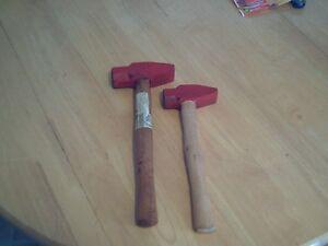 2 cross peen hammers