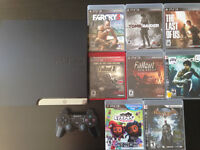 PS3 SLIM 160GB 1 MANETTE 23 JEUX
