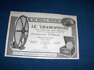 LE GRAMOPHONE-LA VOIX DE SON MAITRE-1923 ADVERTISEMENT-PARIS