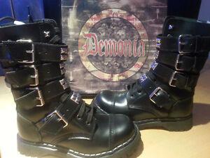 "Demonia Gothic/ Metal ""gravel"" boots"
