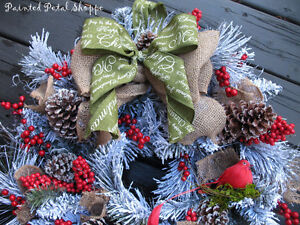 SALE--Woodland Frosted Pine Christmas Wreath/ Holiday Wreath Belleville Belleville Area image 3