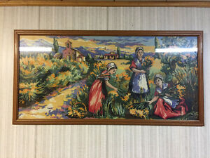 Beautiful Needlepoint Picture