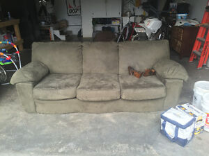 Free full size micro suede couch